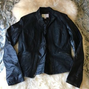 (P)leather jacket black from target